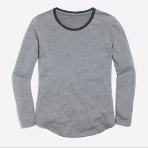 J Crew Supercomfy long-sleeve crewneck T-shirt M